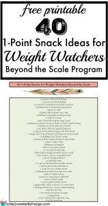 1 Point Snack Ideas for Weight Watchers SmartPoints
