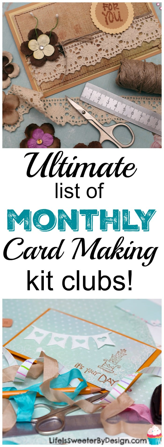 Monthly Card Making Kit Clubs Life Is Sweeter By Design