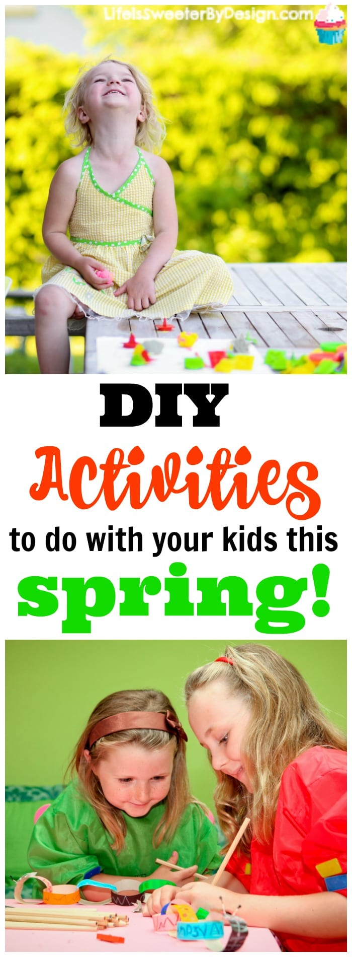 DIY activities you can do with your kids this spring!  These DIY activities are easy and fun to do as a family.  Simple DIY games and crafts your kids will enjoy and will keep them busy!