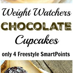 Weight Watchers chocolate cupcake recipe is amazing. This Weight Watcher Recipe makes moist and springy cupcakes that are only 4 Freestyle SmartPoints each.