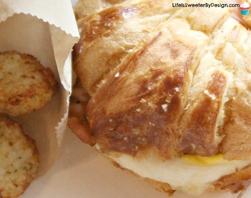 Pretzel Croissant Breakfast Sandwich