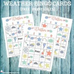 weather bingo printable cards