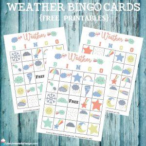 Weather Bingo Free Printable Cards