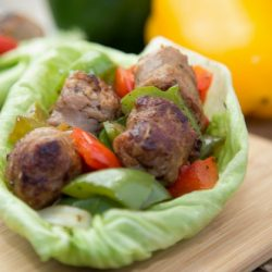 Italian sausage and veggie wrap