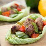 sausage lettuce wrap