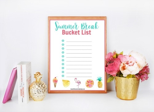 Summer Bucket List Printable