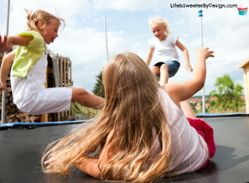 trampoline games for kids