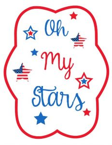 Free 4th of July Printable Fans