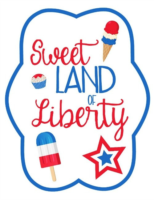 4th of July Printable Fan