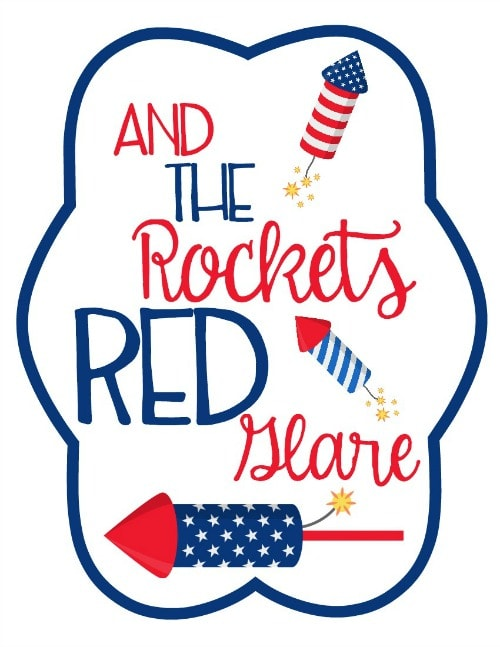 free 4th of July Printable Fan