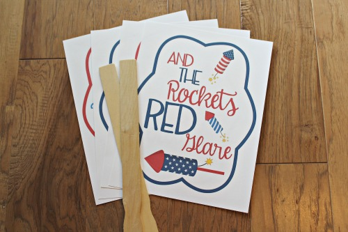 4th of July printable fans
