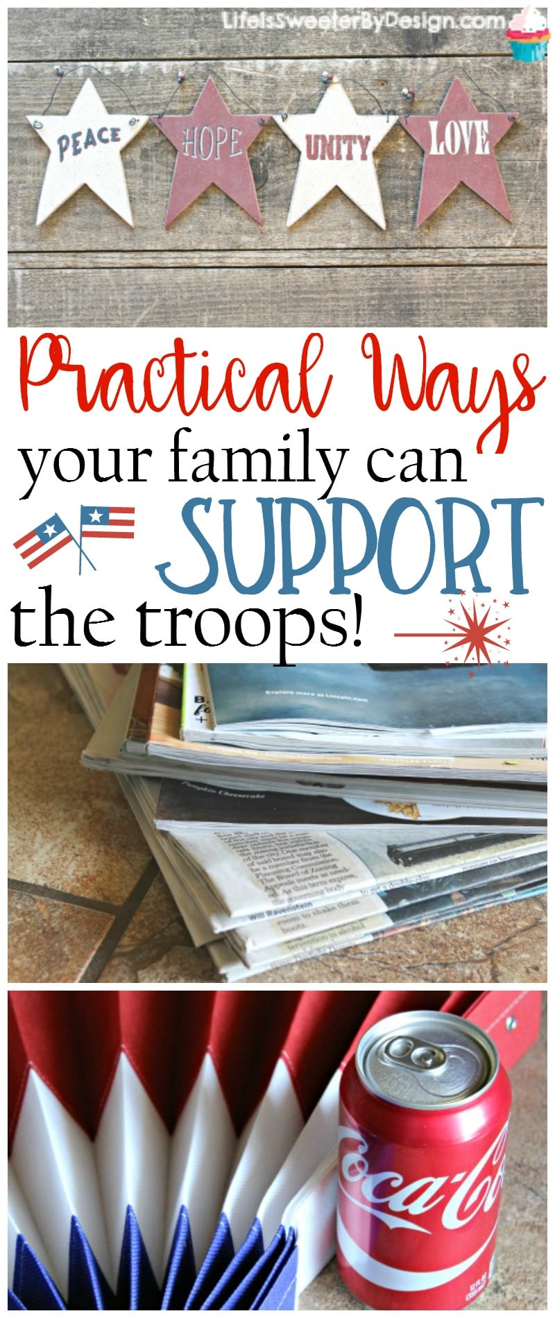 Practical ways your family can support the troops are easy and helpful to our soldiers. Supporting the military doesn't have to be hard!