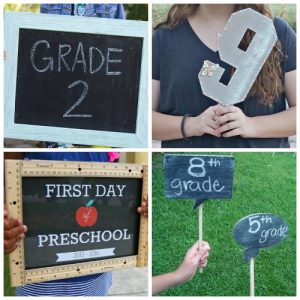 Best First Day of School Photo Ideas
