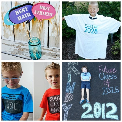 special picture ideas for the first day of school