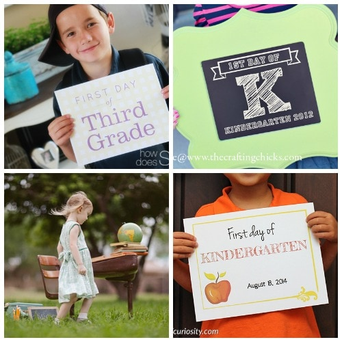 best ideas for 1st day of school photos