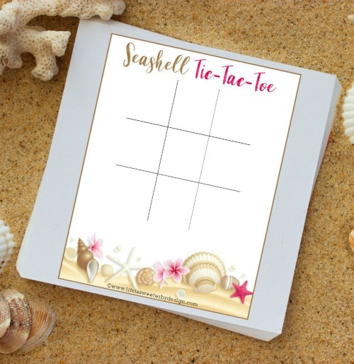 free printable seashell tic tac toe
