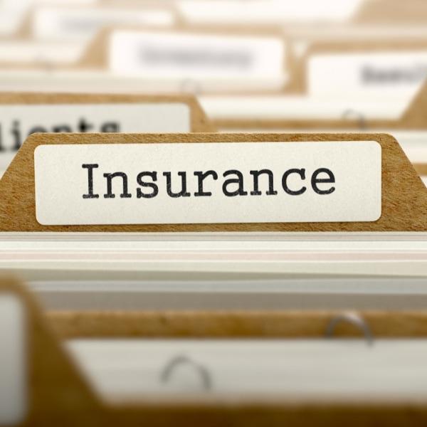 folder labelled insurance
