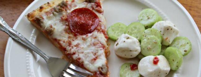 3 Ingredient Mozzarella and Cucumber Salad