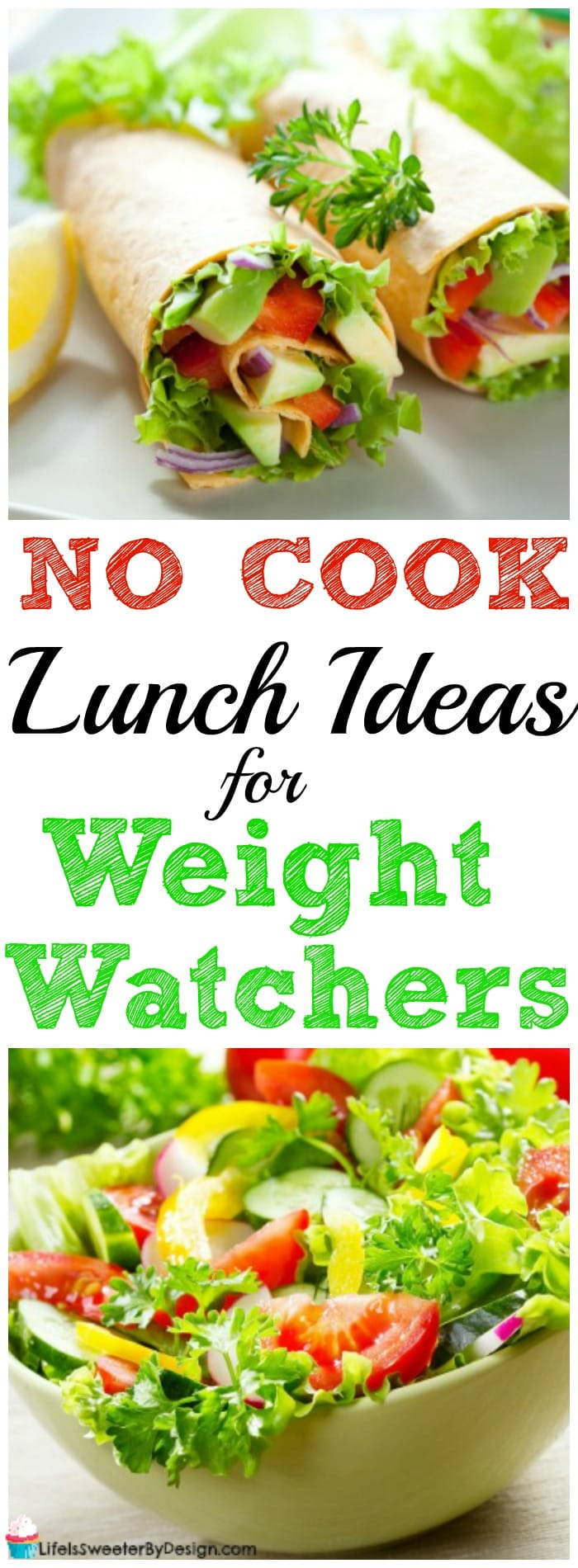 These easy no cook lunch ideas for Weight Watchers will keep you on track with SmartPoints and save you time! Easy lunch ideas are the best when you are rushed for time!