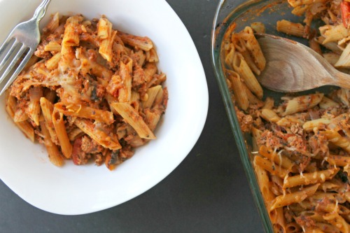healthy turkey and pasta casserole