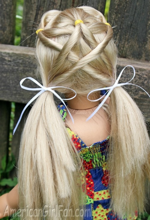 holiday hair for American Girl dolls