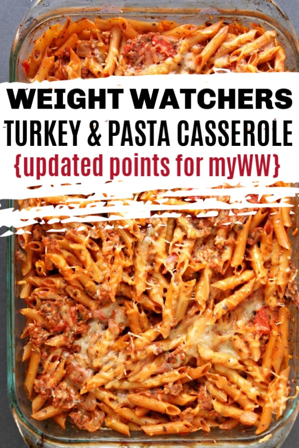 Weight Watchers Baked Turkey and Pasta Casserole
