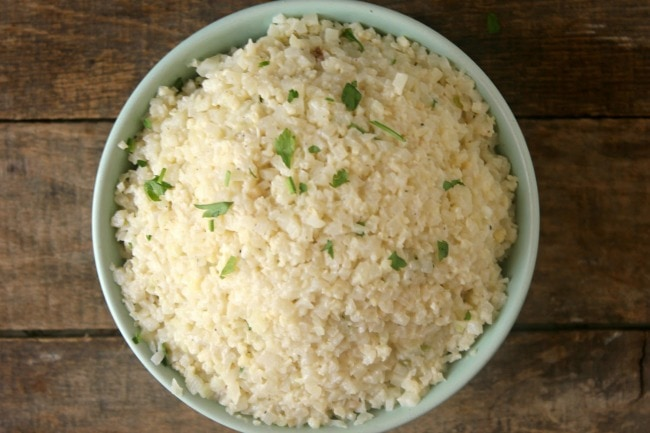 cheesy cauliflower rice recipe