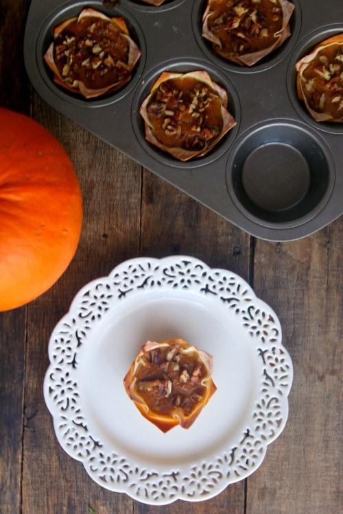 individual pumpkin pie