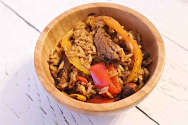 beef fajita bowl