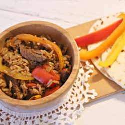 beef fajita and rice recipe