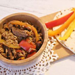 beef fajita and rice recipe
