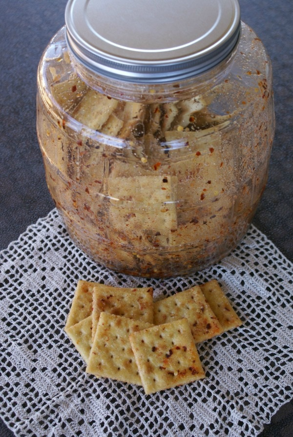 spicy hot crackers