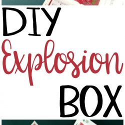 Make a Christmas Explosion Box for a wonderful handmade gift idea that anyone would love. This is also a great DIY project to use some of your craft stash. This papercrafting project is inexpensive to make too!
