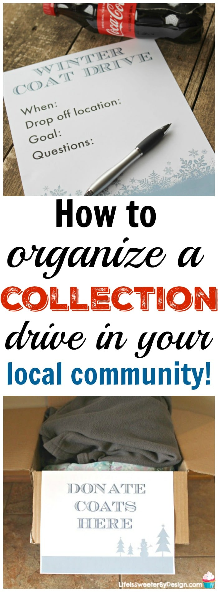 How to organize a collection drive in your local community! These tips will help you support local charities and give back to others. Organizing a donation drive is a great family event during the holidays.