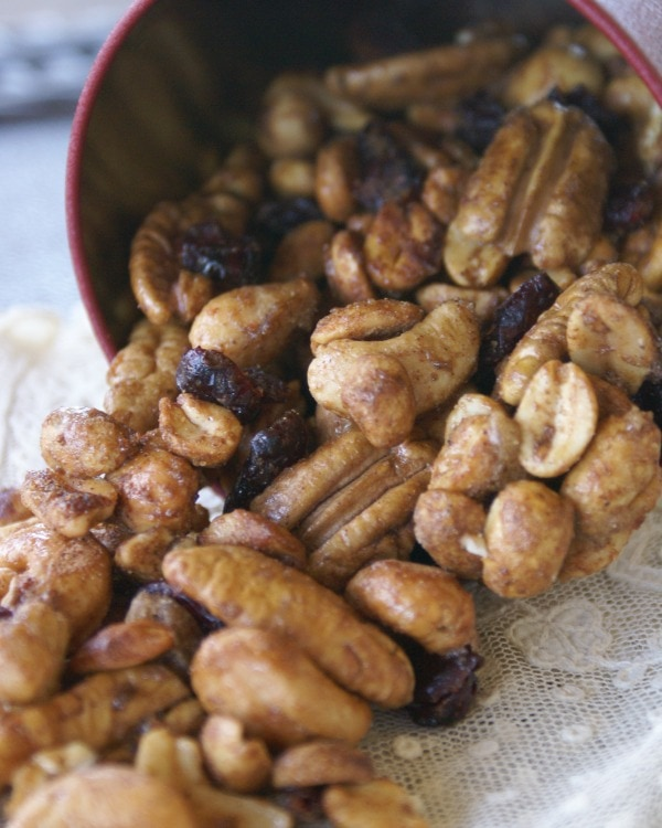 spiced nuts in the microwave