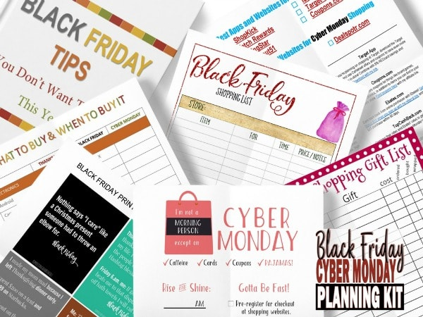 black friday shopping printables