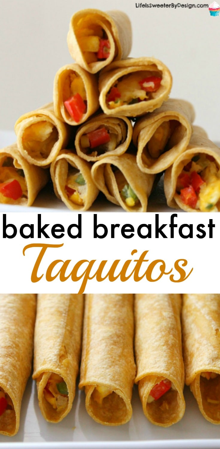Baked breakfast taquitos are a healthy breakfast recipe that are easy to make. These are also a great Weight Watchers recipe!