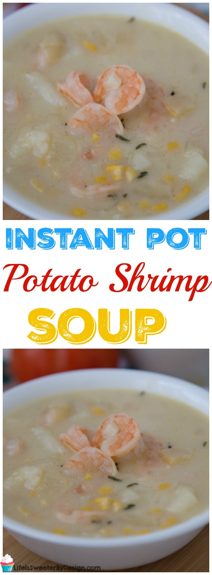 Weight Watchers Instant Pot Potato and Shrimp Soup is delicious and very easy to make. This is a Weight Watchers recipe you will be making a lot!