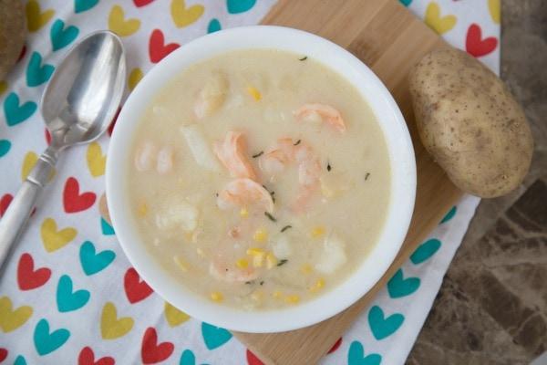 Weight Watchers Instant Pot Potato and Shrimp Soup