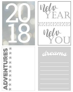 2018 Project Life Pocket Cards Free Printables