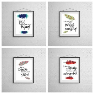 Free Motivational Wall Art Printables
