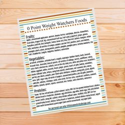 Weight Watchers freestyle program zero point foods