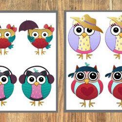 free printable owl matching games