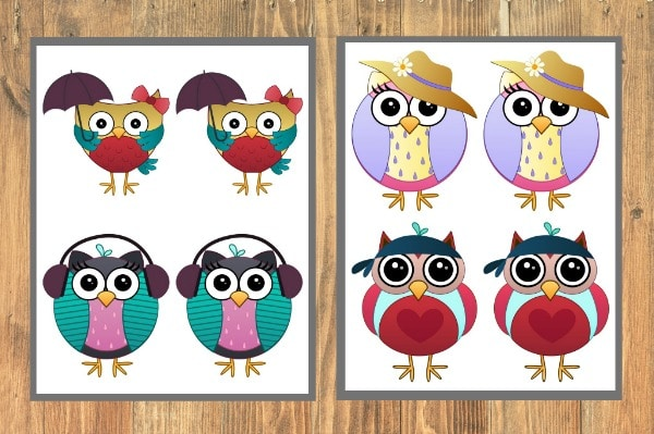 graphic regarding Memory Games Printable called Owl Memory Match Printable - Daily life is Sweeter By way of Structure