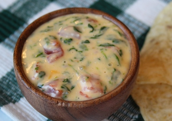 slow cooker spinach cheese dip