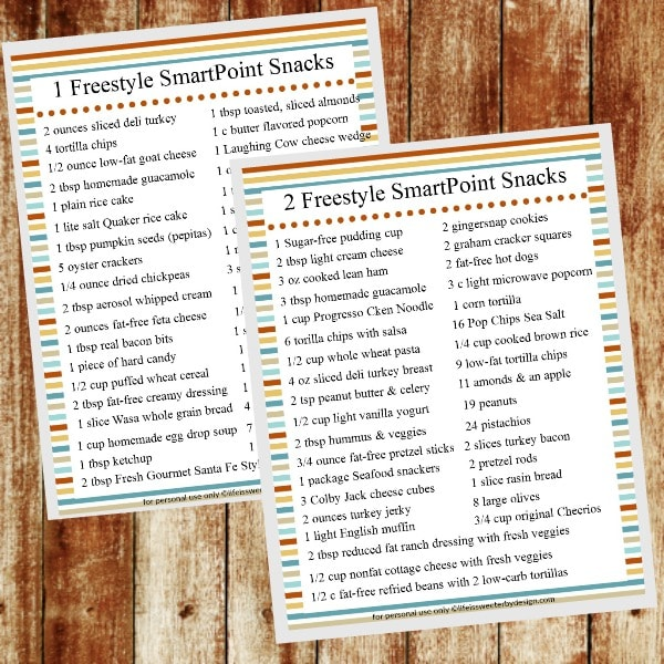 Weight Watchers Zero Point Foods List Free Printable Life Is