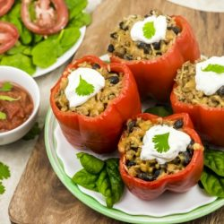 Weight Watchers Slow Cooker Stuffed Peppers