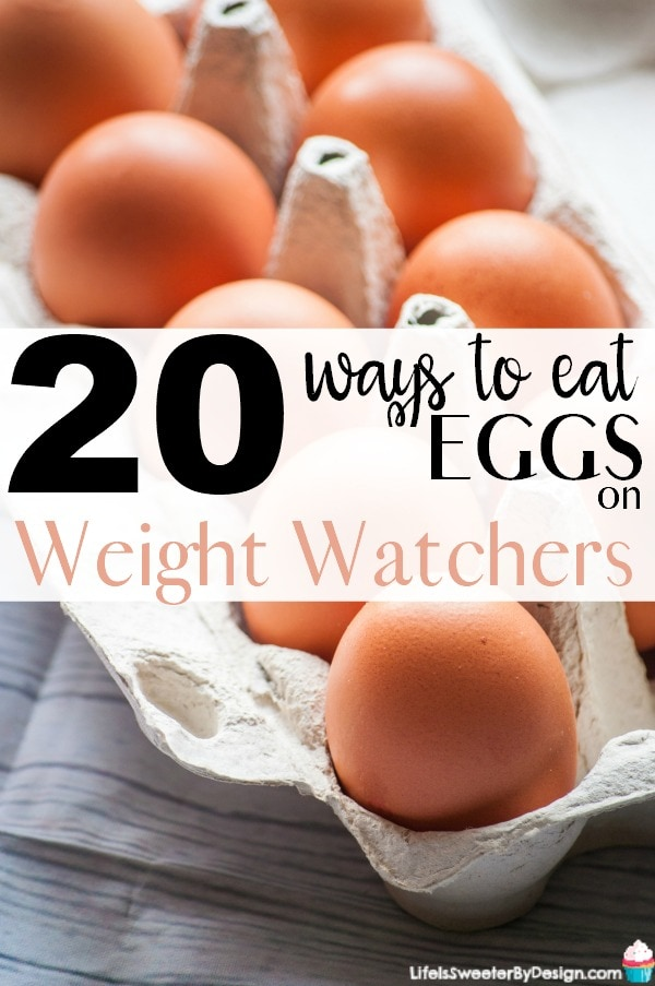20 Ways to Eat Eggs on Weight Watchers so you don't get bored! Check out some amazing ideas and Weight Watchers recipes for eggs that will keep you satisfied. Great Weight Watchers breakfast ideas or even breakfast for dinner.