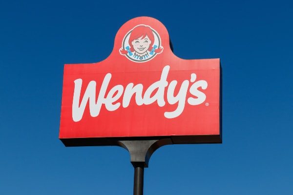 Wendy's menu options for Weight Watchers