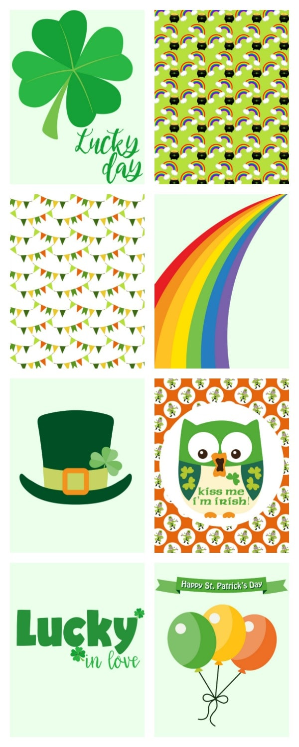 St. Patrick's Day project life cards
